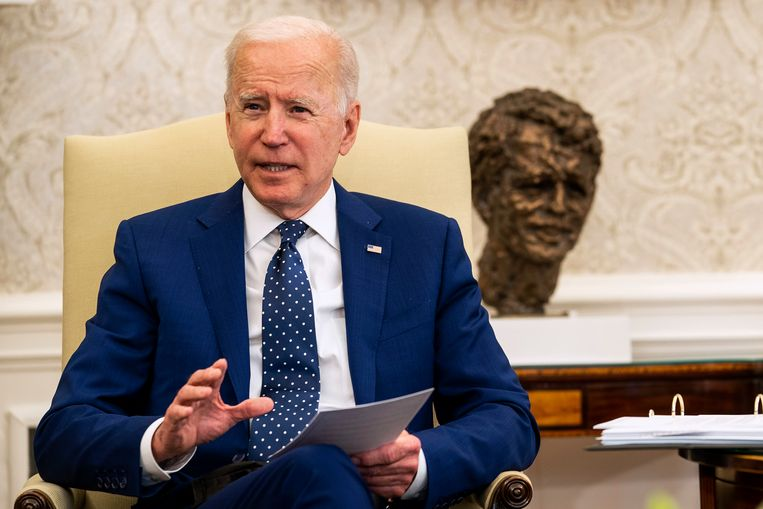 Joe Biden heeft het verzet tegen de techbelasting opgegeven. Beeld Getty Images