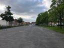 De huidige aanblik van het Stationsplein in Eksaarde.