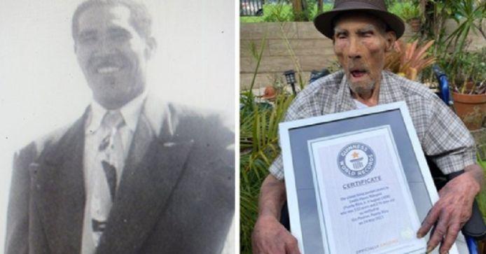 Emilio Flores Márquez (112) is 's werelds oudste levende man.