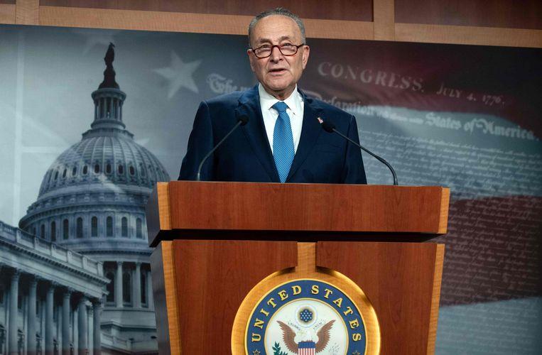Chuck Schumer, de leider van de Democraten in de Senaat. Beeld AFP