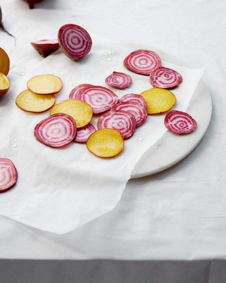 In Essence Cuisine in Londen krijg je rauwe groenten voorgeschoteld. Beeld Essence Cuisine