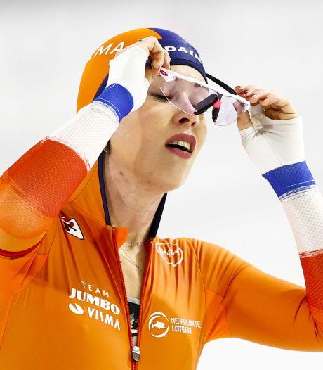 De Jong snoeihard voor zichzelf na vierde plek op 1500 meter: 'Ik heb het verprutst'
