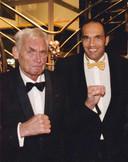 Kees Alleblas in 2007 op een goede-doelen-gala met Arnold Vanderlyde