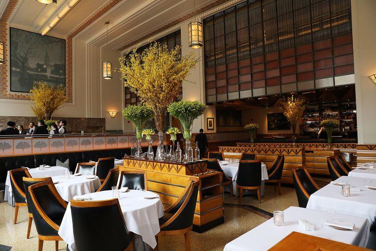 Restaurant Eleven Madison Park heeft drie Michelinsterren. Beeld Getty Images