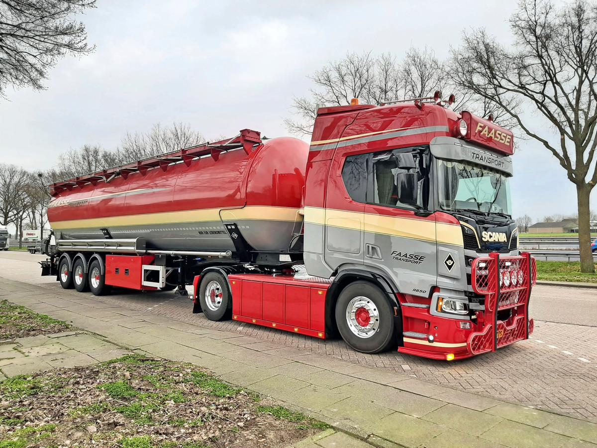 De vrachtwagen van Geoffrey Vermeulen.