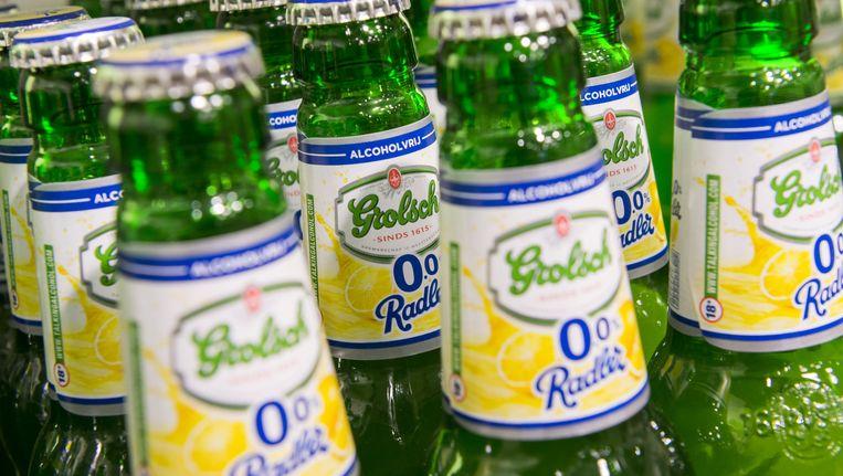 Er werd in 2015 bijna 27 procent meer alcoholvrij bier genuttigd. Beeld null