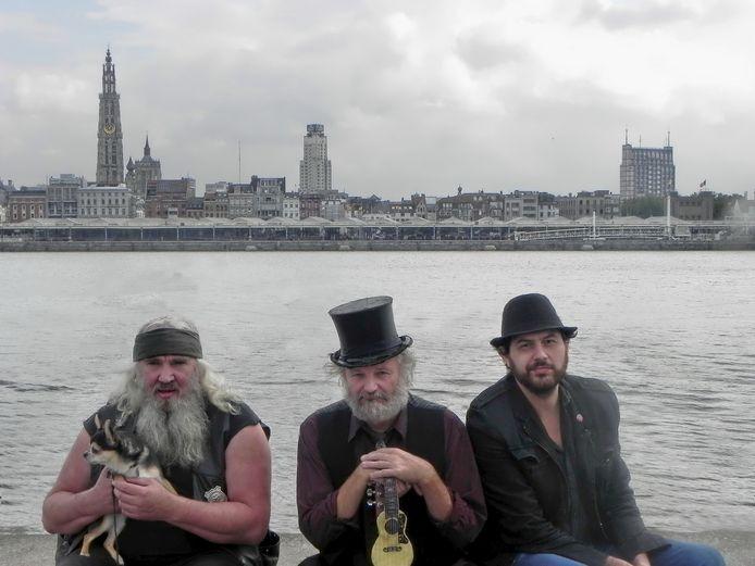 Zjuul Krapuul, Jos Smos en Stef Bef bij de release van hun laatste album samen.