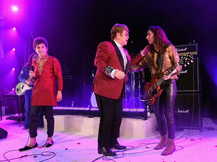 Met Elton John. Beeld Getty Images for Bulgari