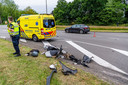 Een ambulance en de politie kwamen ter plaatse