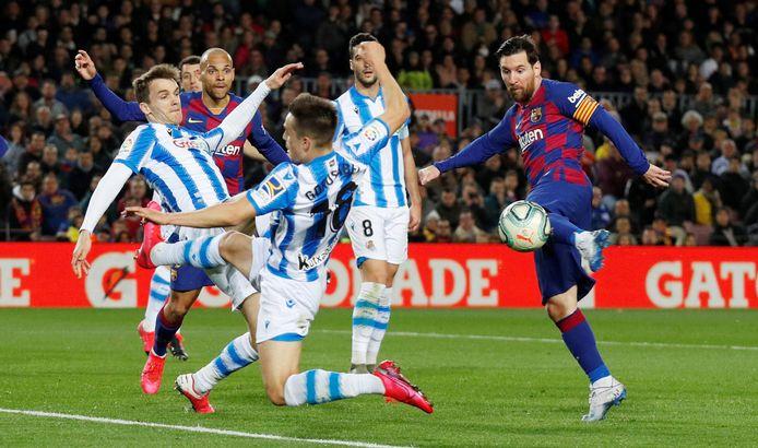 Messi hier nog in actie voor Barcelona. Een beeld dat we niet meer gaan zien.