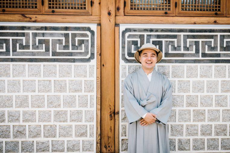 Haemin Sumin, gefotografeerd in Bukchon Hanok Village in Seoul. Beeld Jun Michael Park