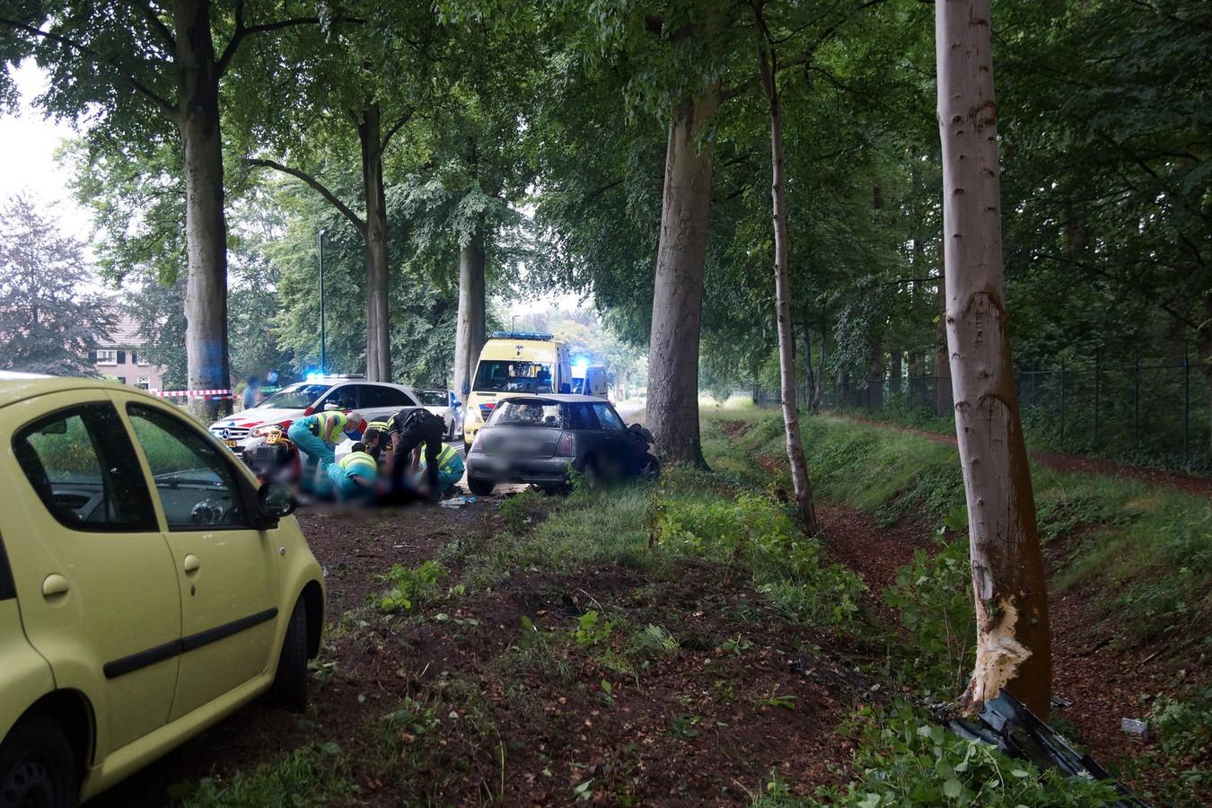 Ongeluk op de Kasteellaan in Loon op Zand.