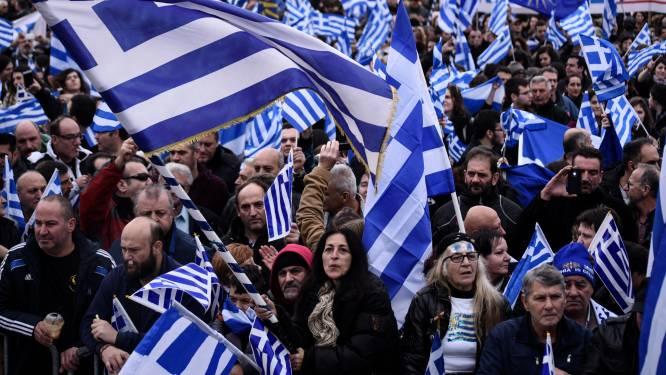 Meer dan 90.000 Grieken protesteren tegen gebruik van naam Macedonië