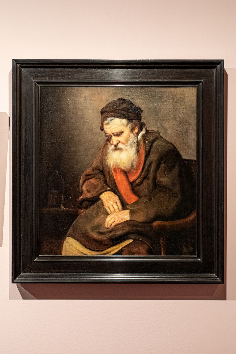 Slapende oude man (1656). Beeld Natascha Libbert