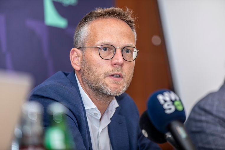 Pro League-voorzitter Peter Croonen blijft bij de beslissing van 15 mei. Beeld BELGA