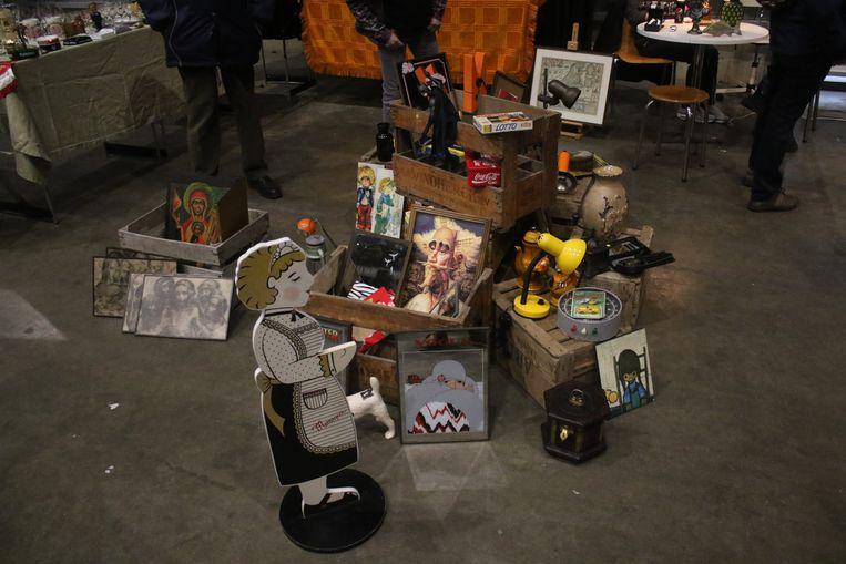 Ruim 1.800 bezoekers op twintigste editie grote brocanterie indoor. Op de brocanterie stonden enkele mooie kunststukjes