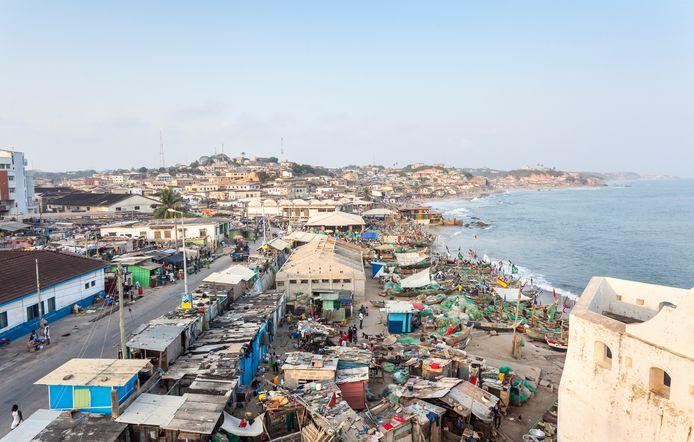 Accra, de hoofdstad van Ghana.