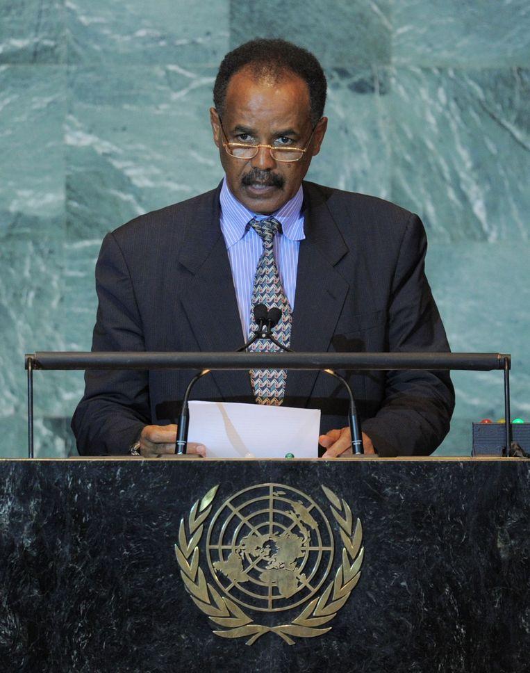 Isaias Afwerki, de president van Eritrea. Beeld afp