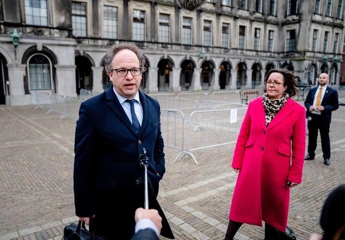 Verkenners Tamara van Ark (VVD) en Wouter Koolmees (D66) waren pas een week geleden begonnen.