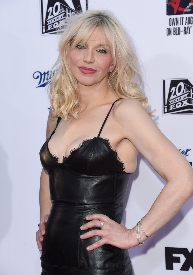 Courtney Love bij de première van het nieuwe seizoen van 'Sons of Anarchy' in Los Angeles. Beeld PHOTO_NEWS