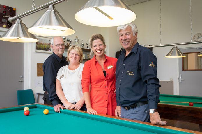 Van links naar rechts: Jan Plooster, Berte Stunnenberg, Bianca van Brandenburg en Geurt Teunissen van Manen.