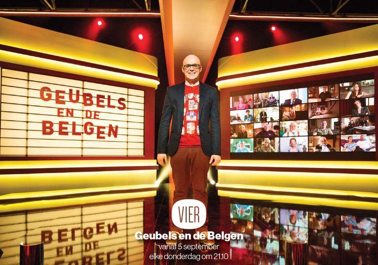 Elke aflevering van 'Geubels en de Belgen' draait rond een thema: van Opgroeien en Relaties tot De Feestdagen. Beeld VIER
