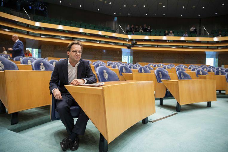 SP-Kamerlid Ronald van Raak tijdens het wekelijkse vragenuurtje in de Tweede Kamer. Beeld ANP