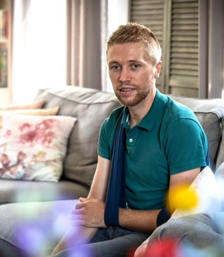Na zwaar ongeval revaliderende Maurits Lammertink: 'Gaat de goede kant op'
