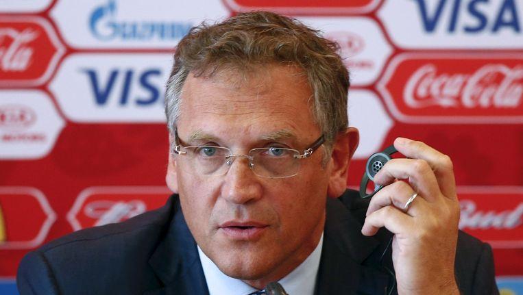Jérôme Valcke, secretaris-generaal van de FIFA, is op werkbezoek in Rusland.