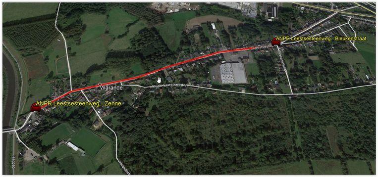 Op dit traject op de Leestsesteenweg in Mechelen zal de snelheid vanaf de zomer permanent worden gecontroleerd.
