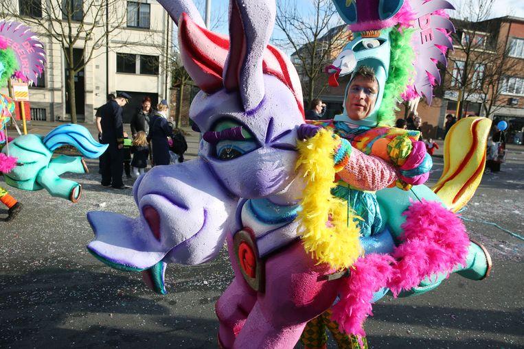 Danny won met zijn groep dit jaar voor het derde jaar op rij Carnaval Halle met de Ezelskoers die ze door de straten stuurde.