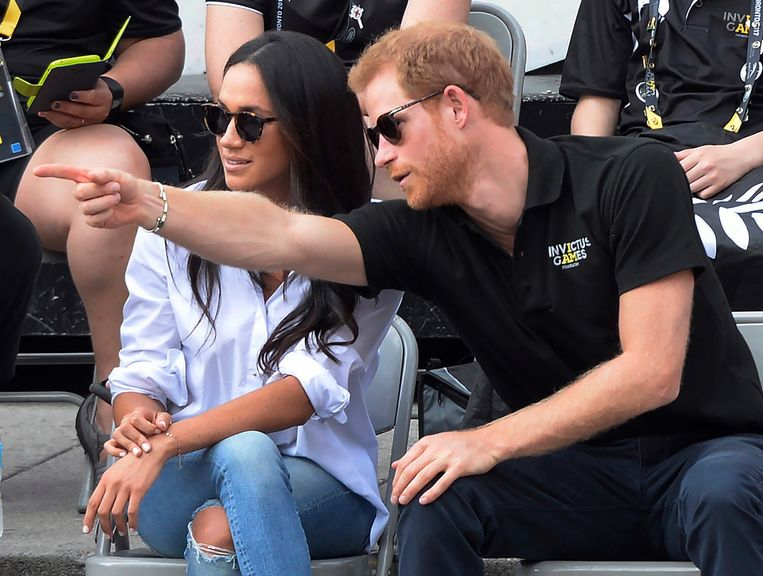 Meghan en Harry tijdens de Invictus Games in Toronto, 2017. Beeld AP