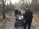 Bij een controle in natuurgebied De Pan werden vier quad-rijders bekeurd.