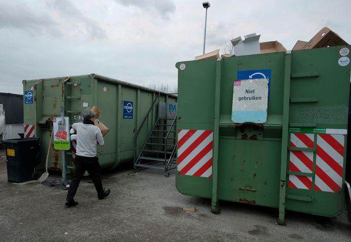 Containerparken zijn op 1 mei gesloten