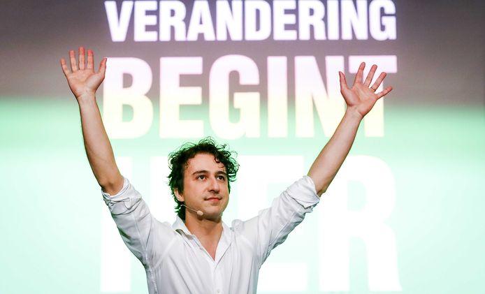 esse Klaver van GroenLinks tijdens de uitslagenavond van de gemeenteraadsverkiezingen