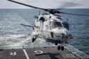 Een vergelijkbare NH90-helikopter waarmee Christine en Erwin in zee stortten. Twee andere bemanningsleden overleefden het ongeluk.