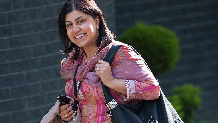 Sayeeda Warsi is de eerste moslimminister van Groot-Brittannië. Beeld AFP