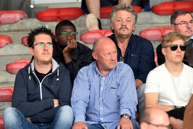 Clinton Mata gisteren in de tribunes van de Bosuil tijdens Antwerp - RC Genk. Beeld photo_news