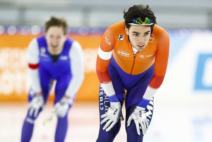 Patrick Roest teleurgesteld nadat hij Sverre Lunde Pedersen voor zich moest dulden.