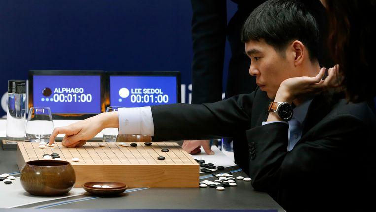 Lee Sedol verloor ook het derde spel tegen Google's AlphaGo. Beeld AP