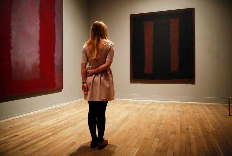Ander werk van Mark Rothko, tentoongesteld in het Londense museum Tate Modern. Beeld REUTERS