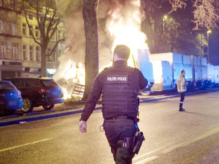 Zo 'vieren' Brusselse agenten nieuwjaar