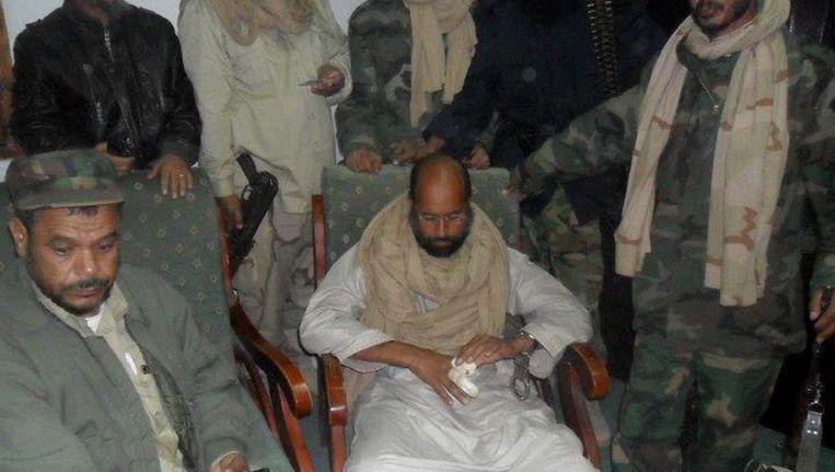 Een foto uit november 2011, toen Saif al-Islam net was opgepakt. Beeld anp