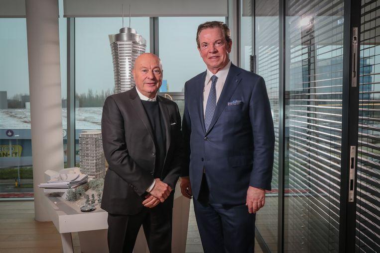 Luciano D'Onofrio en Paul Gheysens van Antwerp. Beeld Photo News