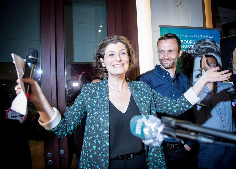 In Straatsburg haalt de groene kandidaat Jeanne Barseghian het. Beeld Photo News