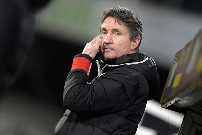 Trond Sollied, in november 2018 als trainer van Lokeren.