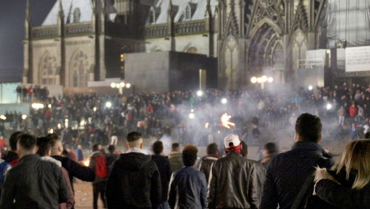 Het Domplein in Keulen, 31 december. Beeld EPA
