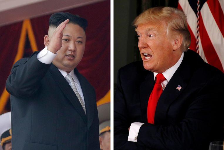 Kim Jong-un en Donald Trump. Beeld AP/Reuters