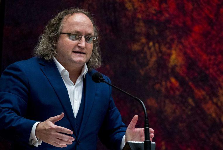 Dion Graus (PVV) in de Tweede Kamer.  Beeld ANP JERRY LAMPEN