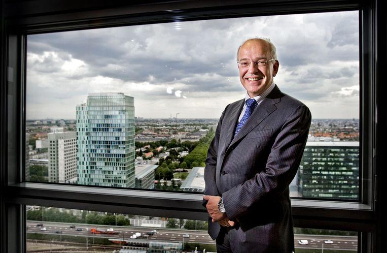Gerrit Zalm als bestuursvoorzitter van ABN Amro. Beeld ANP.